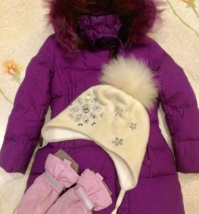 Пальто пух Baby A, шапка Tavitta