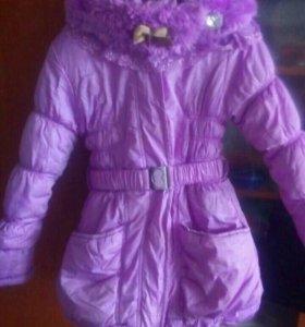 Куртка зимняя на девочку 7-8 лет