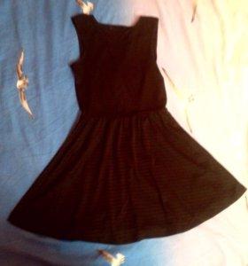 Платье чёрное летнее лёгкое