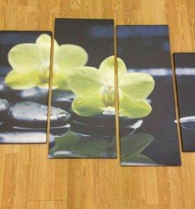 #Орхидеи #Модульные_картины #на_холсте