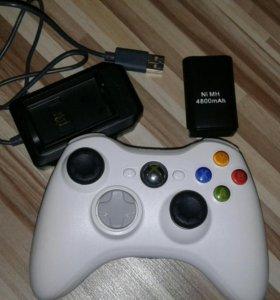 Джойстик (геймпад) XBOX 360 с АКБ и зарядкой