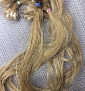 Волосы б/у светло русые