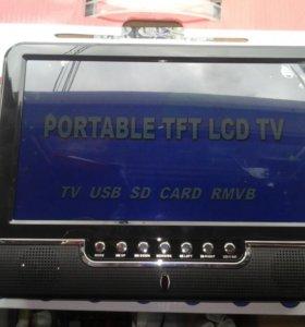 Телевизор 10 дюймов с цифровым ТВ(20 каналов)