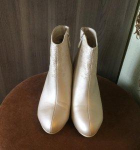 Ботинки свадебные, цвет Айвори
