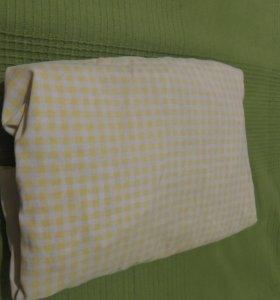 Простынь на резинке для детской кроватки