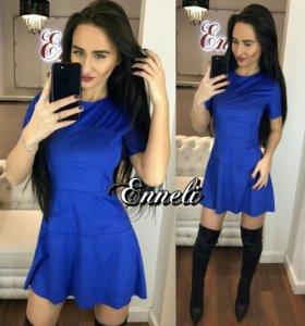В наличие новое замшевое  платье