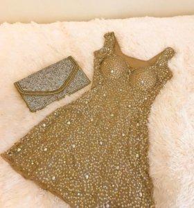 Платье вечернее с кристаллами Swarovski