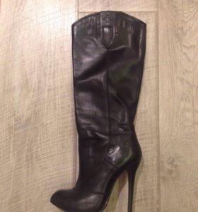 Сапоги чёрные кожаные Paolo Conte