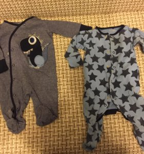 Комбинезоны next, пижамы mothercare
