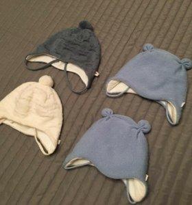 Шапочки зимние reima для малышей
