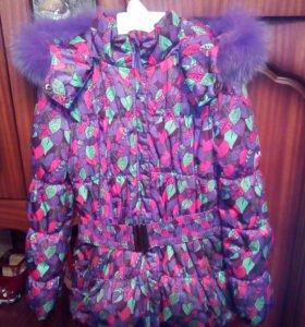Зимняя куртка для девочки, р.128
