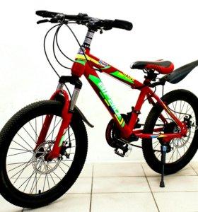 "Велосипед Bipaiqi Max 20"" BMX red/green"