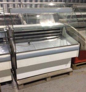 Витрина холодильная с накопителем и полкой