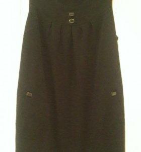 Платье сарафан черный р.52
