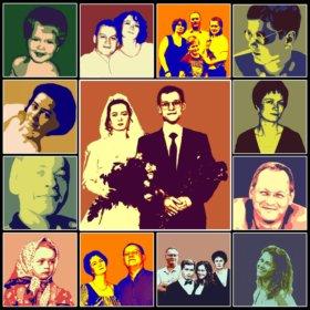 Портреты pop art