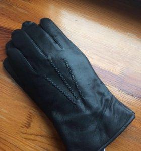 Перчатки мужские из натуральной кожи на зиму.