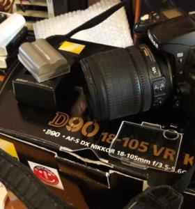 Фотоаппарат NIKON D90 + 18-105