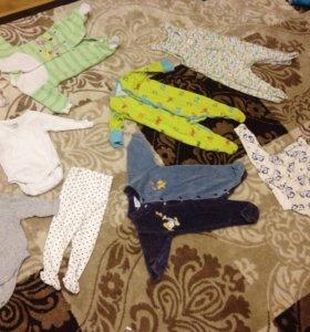 Пакет вещей на новопожденного