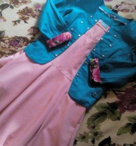 Платье каралового цвета