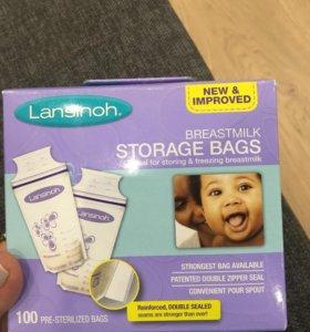Пакеты для хранения грудного молока 100 штук