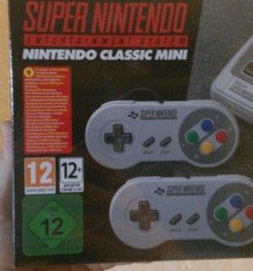 Приставка Super Nintendo с играми, новая