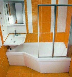 Ремонт ванных комнат,санузлов.