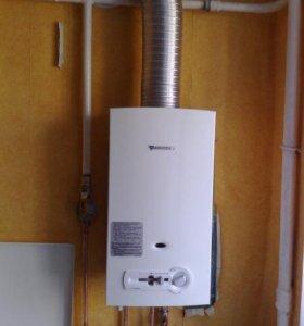 Установка газовой колонки газовой плиты пайка