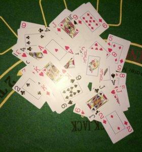 """Колода новых пластиковых карт """"888"""""""