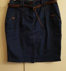 Юбка джинсовая, новая, р-р 44-46