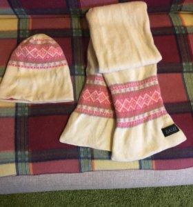 Зимний комплект шапка+шарф BASILE