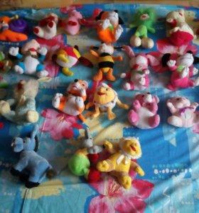 Мягкие игрушки (25 штук)