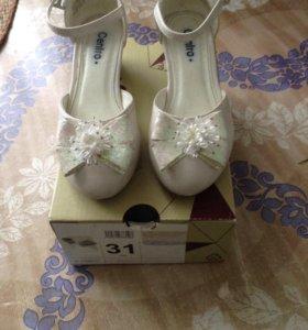 Нарядные туфли для девочки 31р-р