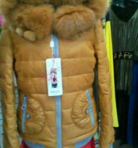 Куртка зимняя новая с натуральным мехом