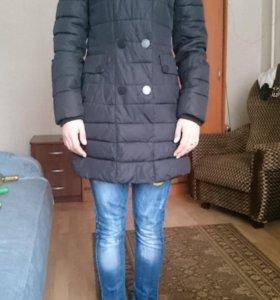 пуховик -пальто-куртка 42-44-р.