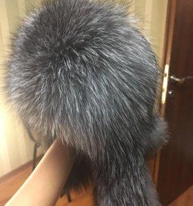 Новая меховая шапка ушанка(кожа)