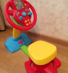 Машинка со звуковым поворотным Рулем