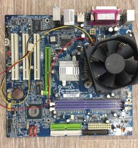 Материнская плата (GA-8VM800M-775) + Процессор