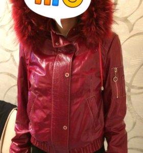 Куртка кожаная. Демисезонная.