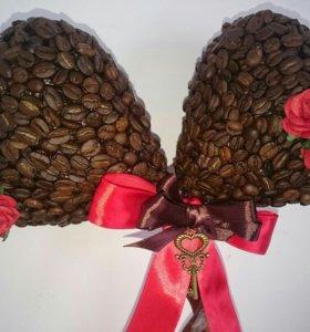 Подарок для девушки, кофейное дерево (Топиарий)