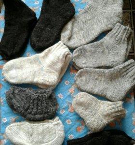 Новые Носки и варежки из натуральной овечей шерсти