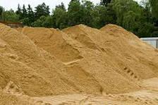 Песок, шлак, щебень.
