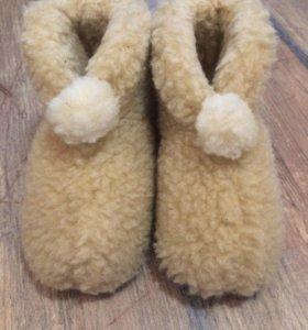Детские тапочки из овчины