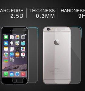 Закаленные стекла для iPhone 5S Front + Back