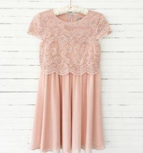 Вечернее кружевное платье Асос