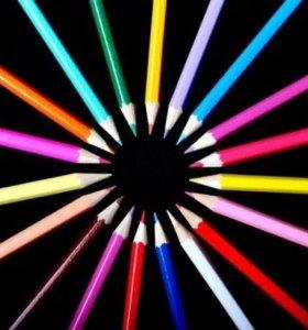 Набор цветных карандашей (12 шт.)