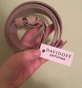 Ремень НОВЫЙ кожа Davidoff perfumes