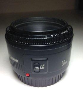 Обьектив Canon 50d 1.8