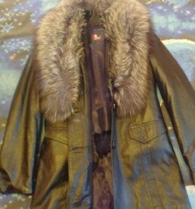 Куртка кожаная демисизон