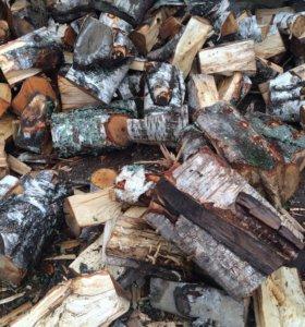 Дрова березовые чурки сучковатые отходы для котла