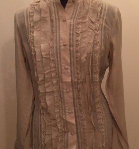 Шелковая блузка с рюшами и кружевами Intimissimi